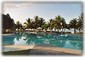 Uniquely Shaped Pool with Swim Up Tiki Bar