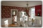Expansive Dining Room with 1920s era dining room table and hutch