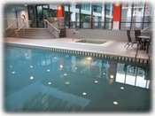 Indoor heated pool & hot tub open year round