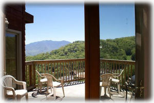 Enjoy the Fresh Mountain Air and Lovely Views on the Deck