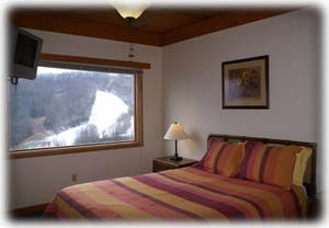 Bdrm 2 of 4 features picture perfect view of Ober Gatlinburg