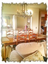 Large Dining Rm Table seats 8 to 10