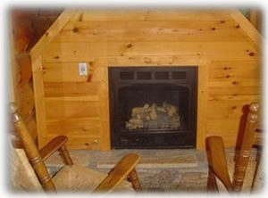 second gas log fireplace on the outside deck