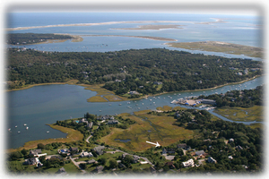 Aerial Photo Of House, Oyster Pond/River, Nantucket Sound and Monomoy Island