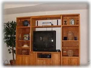 Full Entertainment Center with DVD/ VCR/ Big TV/ Wireless Internet