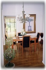Separate Dining Area with Tasteful Furnishings