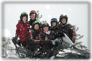 Snowmobiling... a family favorite!