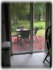 Enjoy your morning coffee on the outdoor deck
