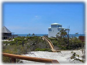 The view toward the gulf is spectacular. That's our direct beach walkway you see