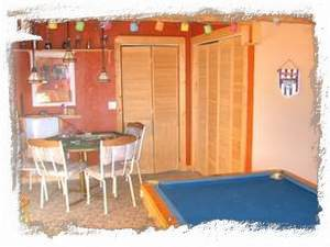 Game Room with Pool Table and Game Table