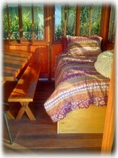 The Perfect Bay View Place to Nap/Read. Cozy Twin bed in the Redwood Gazebo