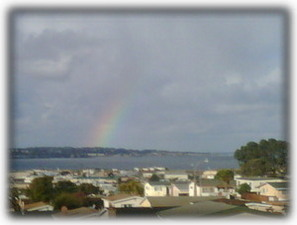 Rainbow over the bay