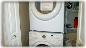 Washer, dryer, iron, ironing board & drying rack too.