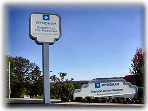 Sign at Entrance to Wyndham Branson at the Meadows