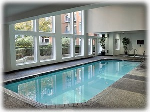 Relax: Indoor heated pool, hot tub, and sauna.