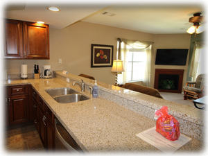 Granite counters. Open floor plan.