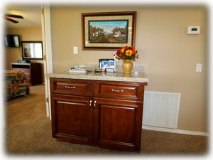 Coupons, maps, brochures in your entertainment cabinet.
