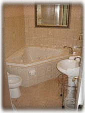 Hyannisport cottage rental - Bathroom with Jacuzzi tab and a separate shower