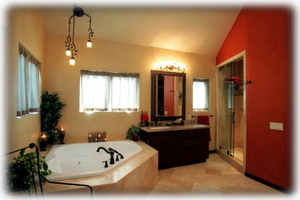 Master Bath features Jacuzzi Tub and separate shower