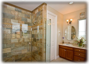 Spacious bathroom in every bedroom