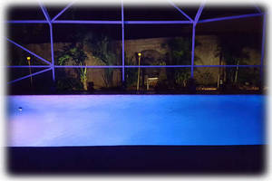 Swimming Pool at Night {One of Several LED Light Colors Available}