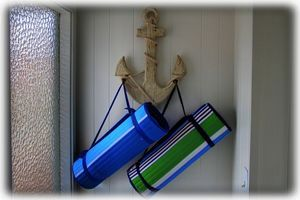 Beach Gear Awaits you in Entryway