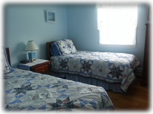 Twin bedded room - Blue Room