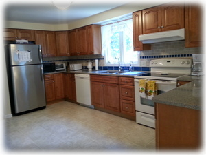 Well Equipped and very Clean, Spacious Kitchen on the top floor