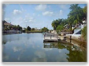 canal in your own back yard- out to the Gulf in 2 mins