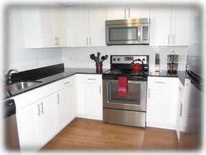 Very spacious and updated kitchen - well equipped too!
