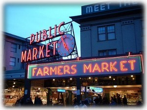 Shop fresh food at Pike Place Market, walk a block 'home', cook in full kitchen!