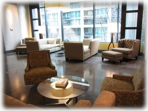 Beautiful lobby area in SE tower - check in here w/ 24 hour concierge