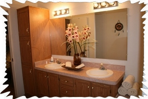 Master Bath with his & her's sinks