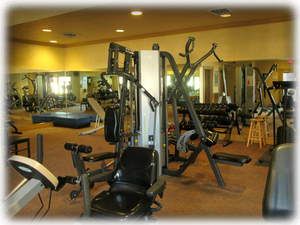 Pointe Royale Fitness Center is 1 block away. In club house.