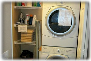 Washer-Dryer. Laundry supplies are furnished.