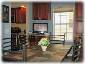 "Your dining room seats 6 and has a 26"" HDTV"