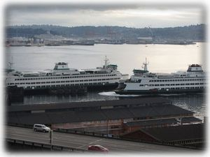 See the ferries right from your private balcony