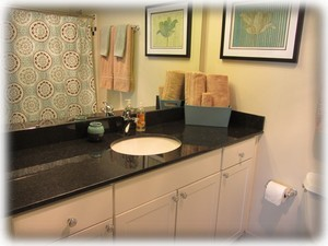 Master bathroom - spacious with granite counters