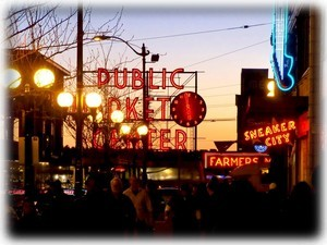 Pike Place Market less than 5 minute walk