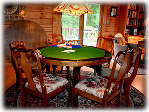 Iron Mountain Inn - Poker Table for great card and board games