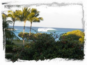 Surf's up! as seen from our lanai