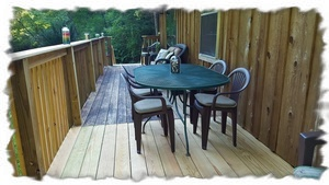 Deck Table Seats Six {As Posted, Additional Outside Seating Available}