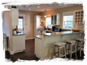 Remodeled Kitchen with Bar Seating