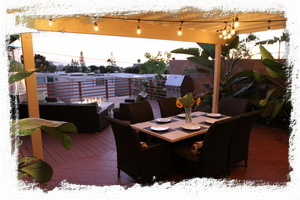 Our 500 sq ft deck is an entertainer's paradise with ample seating for everyone