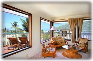 See the Pacific from lanai & living area