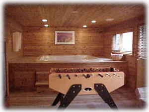 Hot Tub and Foosball Table