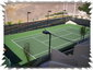 View of tennis court from condo